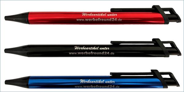 Kugelschreiber Ibiza aus Kunststoff mit Metallgroßraummine