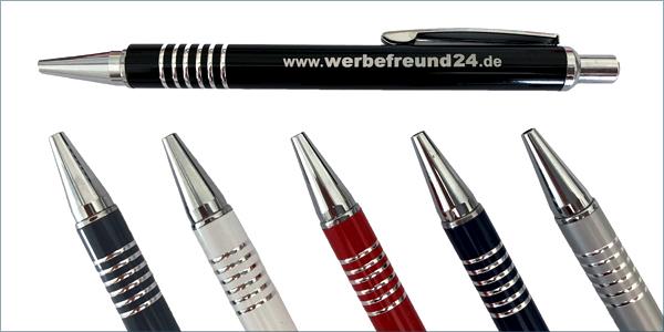 Kugelschreiber Sydney aus Metall mit Metallgroßraummine