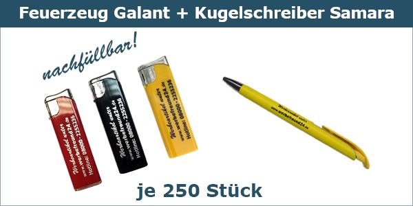 Galant + Samara Werbe-Set
